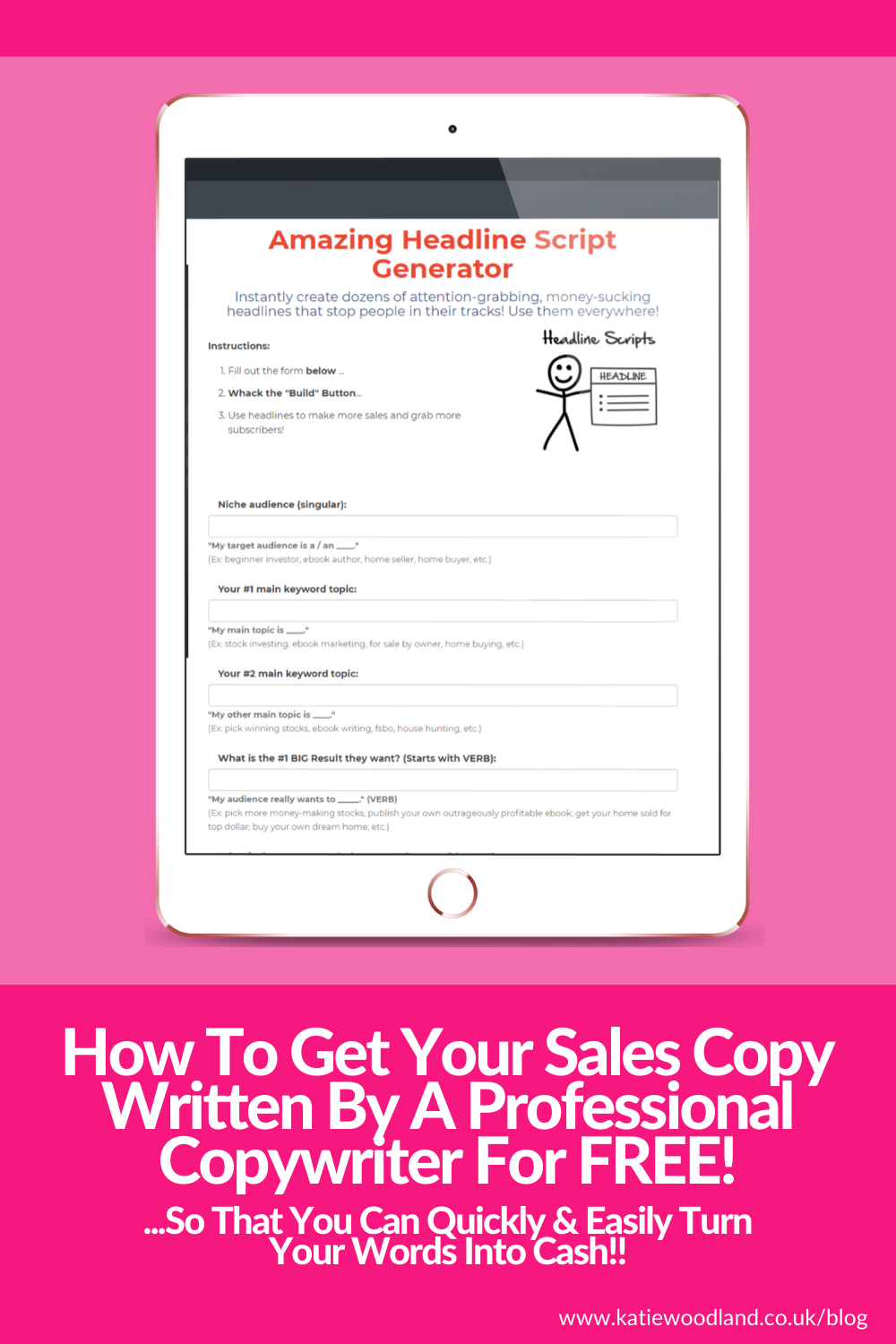 How To Get Your Sales Copy Written By A Professional Copywriter For FREE!