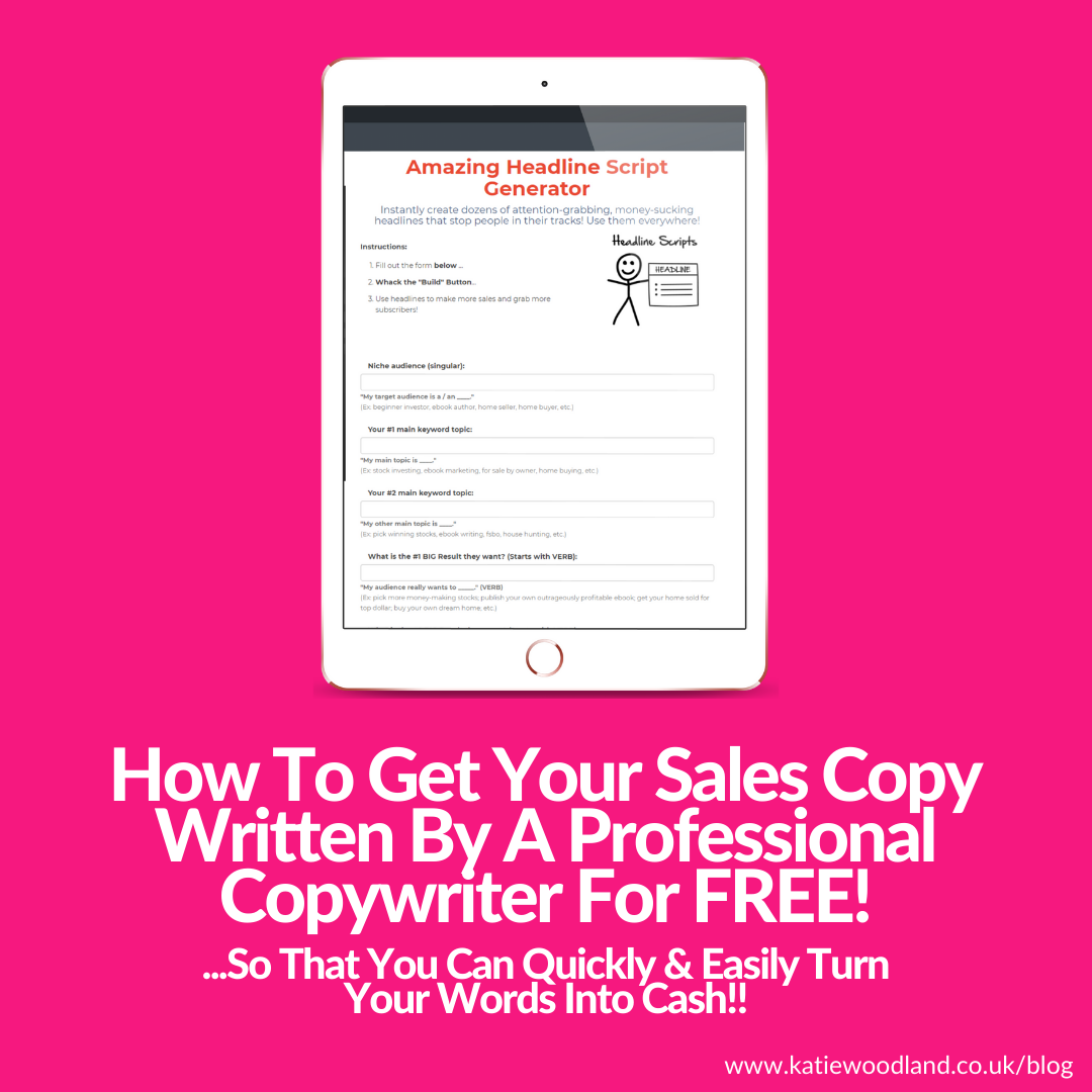 How Savy Female Entrepreneurs Are Getting Their Sales Copy Written By A Professional Copywriter For FREE!