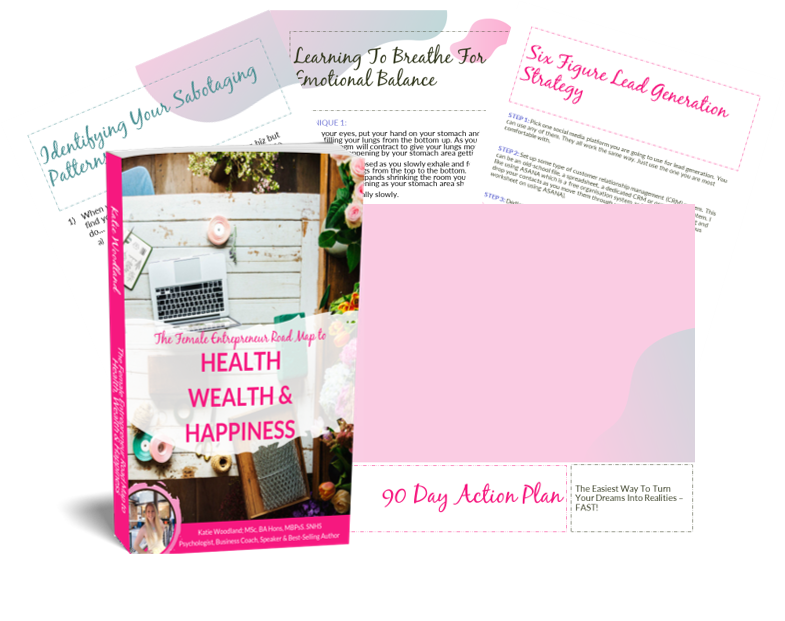 FREE Book For Female Entrepreneurs Packed With 30+ Techniques To Help You Create Perfect Health, Wealth And Happiness In Your Life Through Your Business!
